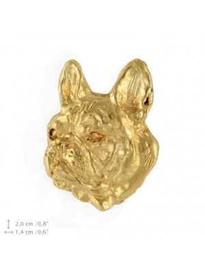 French Bulldog - pin (gold plating) - 2375 - 26095
