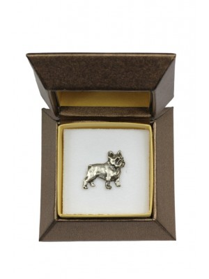 French Bulldog - pin (silver plate) - 2651 - 28933
