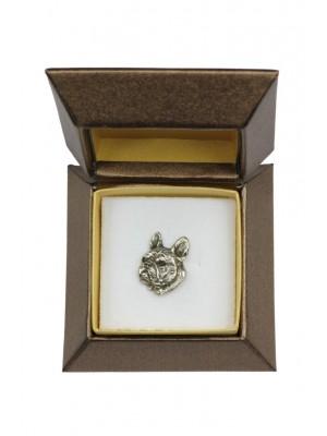 French Bulldog - pin (silver plate) - 2674 - 28956
