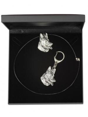 German Shepherd - keyring (silver plate) - 1757 - 11291
