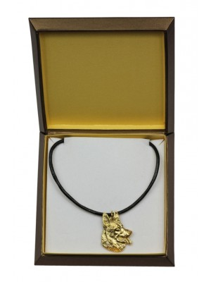 German Shepherd - necklace (gold plating) - 2468 - 27627