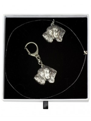 German Wirehaired Pointer - keyring (silver plate) - 2017 - 16425