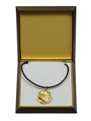 Grand Basset Griffon Vendéen - necklace (gold plating) - 3039 - 31675