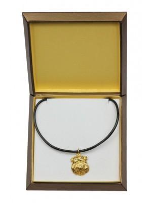 Grand Basset Griffon Vendéen - necklace (gold plating) - 3079 - 31744