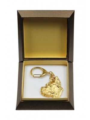 Great Dane - keyring (gold plating) - 2840 - 30502