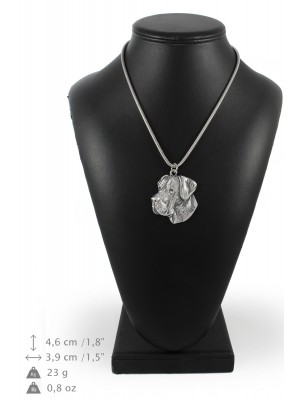 Great Dane - necklace (silver chain) - 3293 - 34295