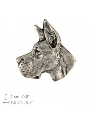 Great Dane - pin (silver plate) - 1537 - 26039