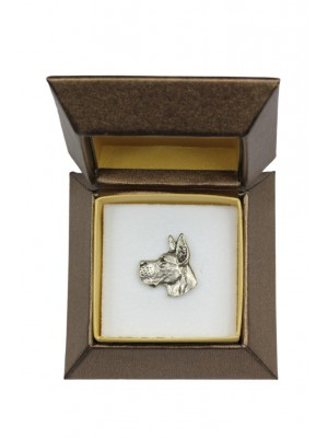 Great Dane - pin (silver plate) - 2669 - 28951