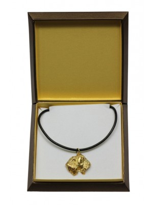 Irish Soft Coated Wheaten Terrier - necklace (gold plating) - 3073 - 31709