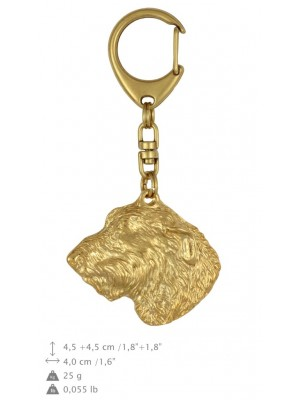 Irish Wolfhound - keyring (gold plating) - 851 - 25217