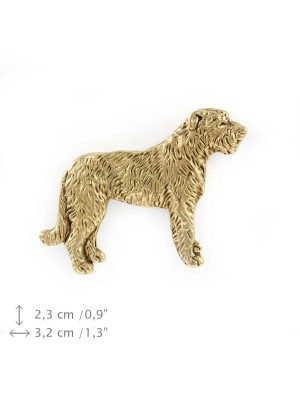 Irish Wolfhound - pin (gold) - 1486 - 7412