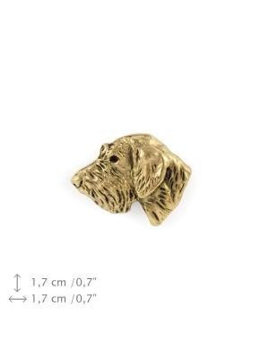 Irish Wolfhound - pin (gold plating) - 1082 - 7846
