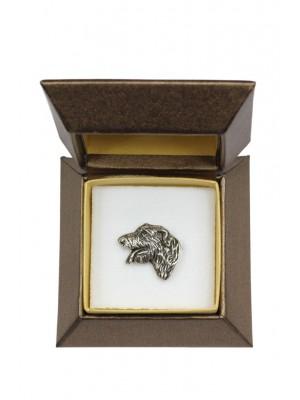 Irish Wolfhound - pin (silver plate) - 2645 - 28927