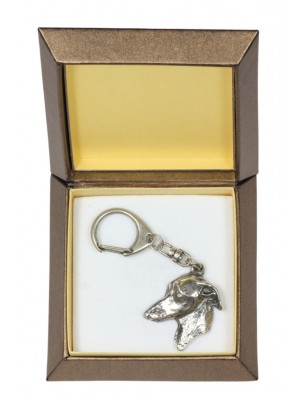 Italian Greyhound - keyring (silver plate) - 2792 - 29912