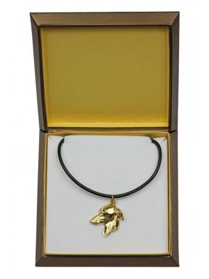 Italian Greyhound - necklace (gold plating) - 2514 - 27673