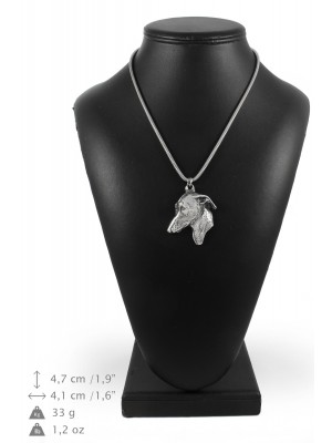 Italian Greyhound - necklace (silver cord) - 3228 - 33350