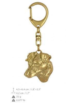 Jack Russel Terrier - keyring (gold plating) - 859 - 25237