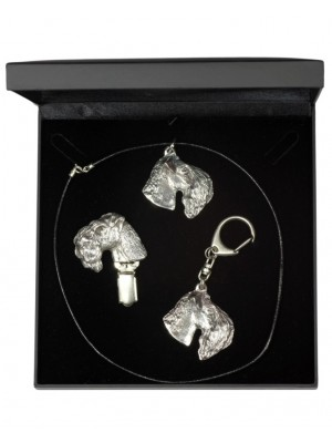 Kerry Blue Terrier - keyring (silver plate) - 1889 - 13431
