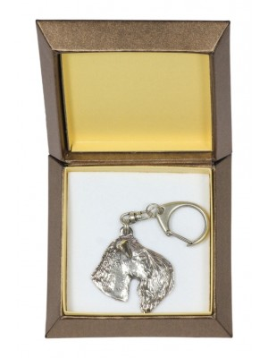 Kerry Blue Terrier - keyring (silver plate) - 2768 - 29888