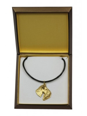 Kerry Blue Terrier - necklace (gold plating) - 2499 - 27658