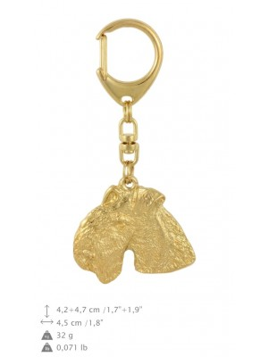 Lakeland Terrier - keyring (gold plating) - 1737 - 30167