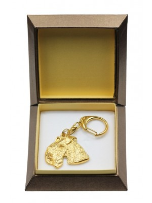 Lakeland Terrier - keyring (gold plating) - 2889 - 30554