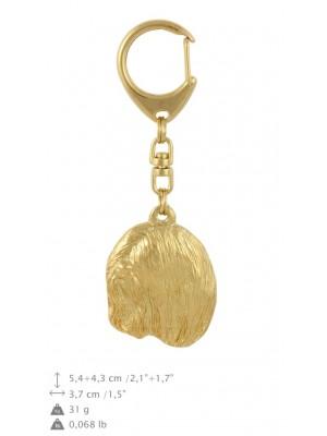 Lhasa Apso - keyring (gold plating) - 874 - 30120