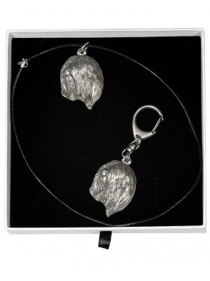 Lhasa Apso - keyring (silver plate) - 2016 - 16405