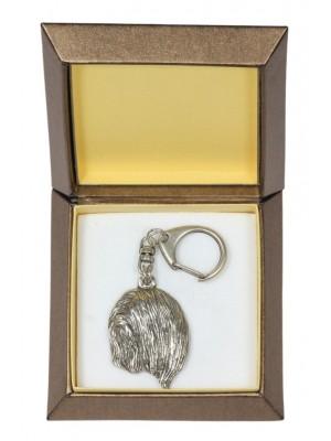 Lhasa Apso - keyring (silver plate) - 2799 - 29919
