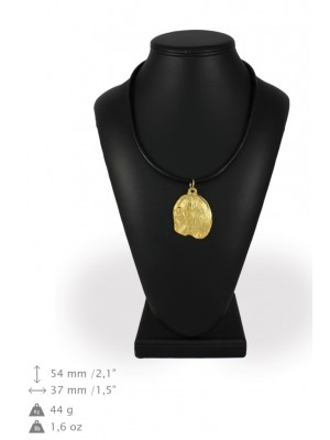Lhasa Apso - necklace (gold plating) - 998 - 31358