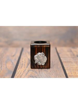 Neapolitan Mastiff - candlestick (wood) - 3905 - 37429