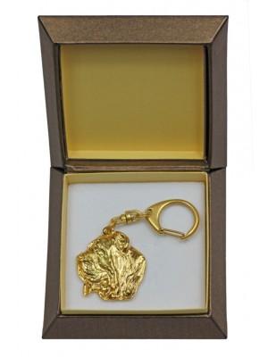 Neapolitan Mastiff - keyring (gold plating) - 2398 - 27270