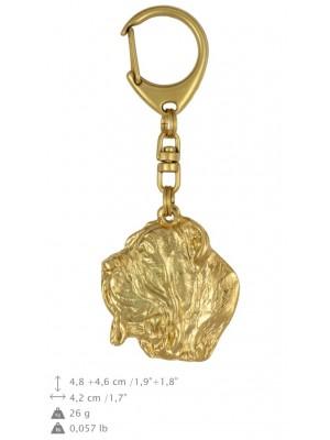 Neapolitan Mastiff - keyring (gold plating) - 795 - 25047