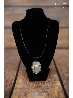 Neapolitan Mastiff - necklace (silver plate) - 3438 - 34908