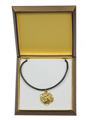 Norfolk Terrier - necklace (gold plating) - 2531 - 27687