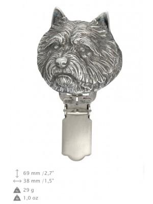 Norwich Terrier - clip (silver plate) - 689 - 26468
