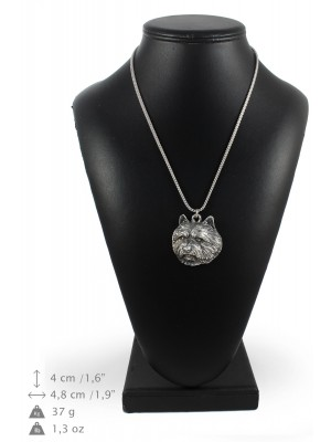Norwich Terrier - necklace (silver chain) - 3371 - 34633