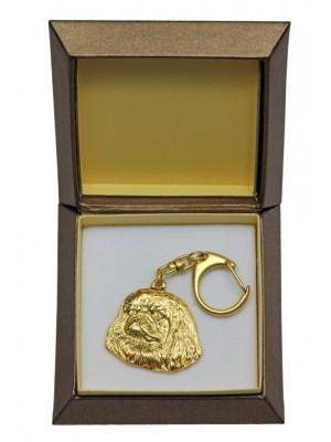 Pekingese - keyring (gold plating) - 2442 - 27313