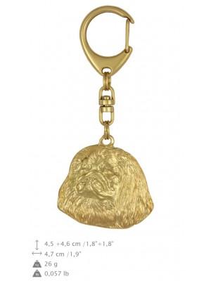 Pekingese - keyring (gold plating) - 872 - 25267