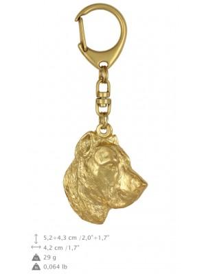 Perro de Presa Canario - keyring (gold plating) - 860 - 25242