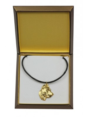 Perro de Presa Canario - necklace (gold plating) - 2510 - 27669