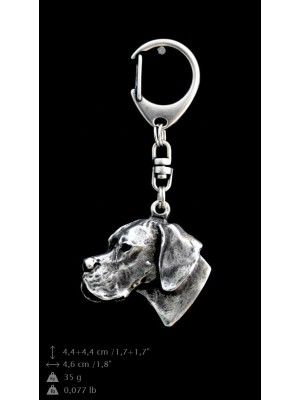 Pointer - keyring (silver plate) - 725 - 9405