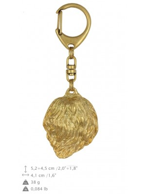 Polish Lowland Sheepdog - keyring (gold plating) - 1375 - 25622