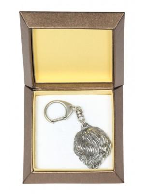 Polish Lowland Sheepdog - keyring (silver plate) - 2820 - 29943