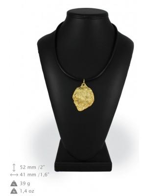 Polish Lowland Sheepdog - necklace (gold plating) - 2523 - 27587