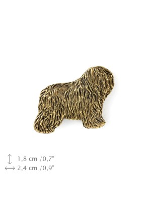 Polish Lowland Sheepdog - pin (gold plating) - 1092 - 7911