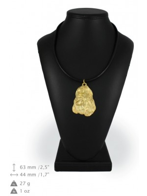Poodle - necklace (gold plating) - 951 - 25432