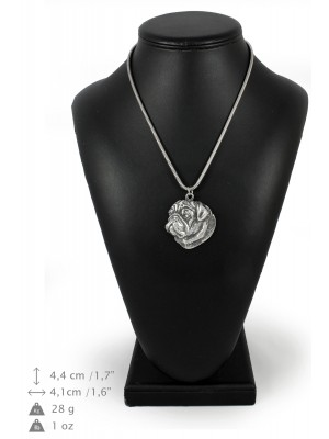 Pug - necklace (silver cord) - 3138 - 32946