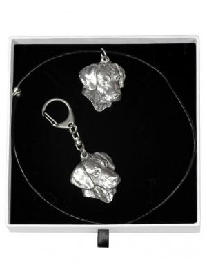 Rhodesian Ridgeback - keyring (silver plate) - 1955 - 14880