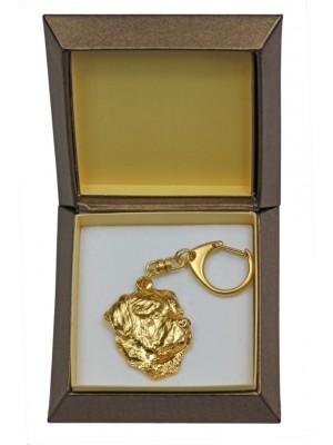 Rottweiler - keyring (gold plating) - 2391 - 27262